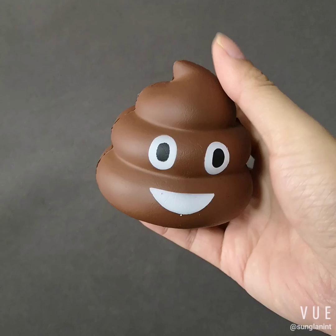 Slow Rising Emoji Pu Squishy Poop Shape Stress Relief Toy